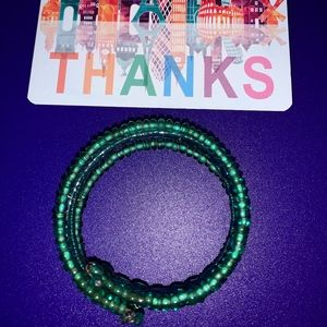 multi beaded green bracelet